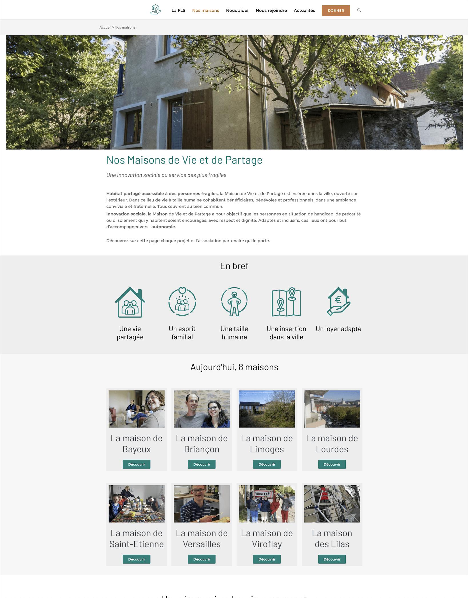 pages des maisons de vie et de partage